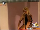 Cecilia Oviedo big fake tits stripper