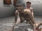 Animated Incest - The bathroom with grandma