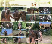 Country Horse Ride - nudist teen